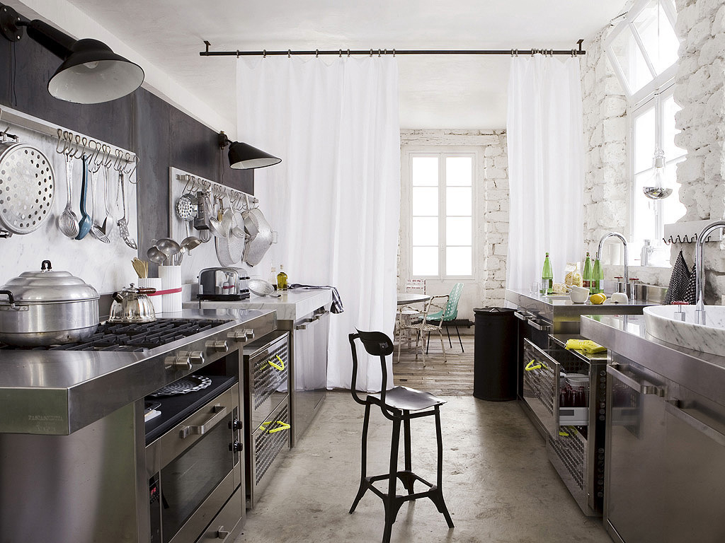 amusing-industrial-kitchens-at-home-with-trends-gallery-ideas